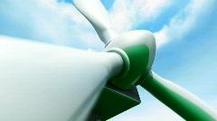 Wind Farm animation Stock Footage
