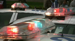 Police car lights. - stock footage