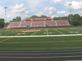Stock Video Footage of Football Field and Bleachers