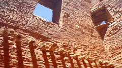 Chaco walls and window - stock footage
