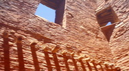 Chaco walls and window Stock Footage