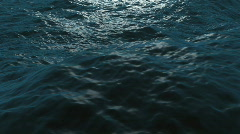 Rough waves on ocean, loopable - stock footage