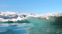 Melting Polar Icecap Stock Footage