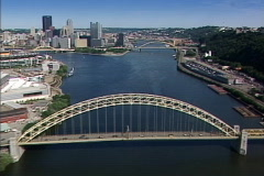 Aerial Pittsburgh 137 Stock Footage