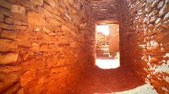 Chaco film doorway door ruins - stock footage