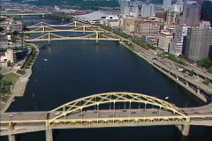Aerial Pittsburgh 143 - stock footage