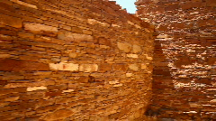 Chaco canyon wall - stock footage