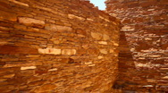 Chaco canyon wall Stock Footage
