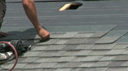 Stock Video Footage of Laying Shingles (HD 1080p30)