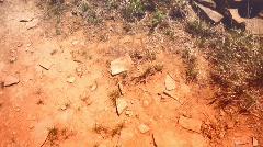 Chaco canyon tilt ruins Stock Footage
