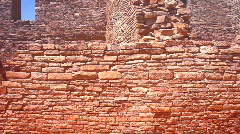 Chaco ancient ruins wall Stock Footage