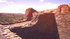 Chaco Ancient indian native american land Stock Footage
