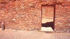 Chaco Ancient doorway - stock footage