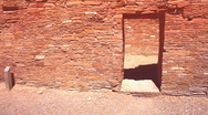 Chaco Ancient doorway Stock Footage
