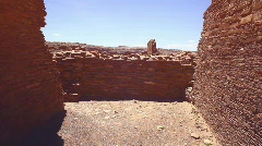 Chaco Ancient city dead Stock Footage