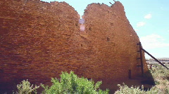 Chaco wall canyon buildings Stock Footage