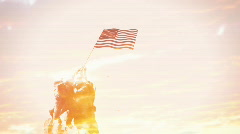 Artsy american flag soldier Stock Footage
