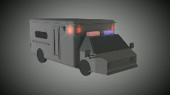 Ambulance simple CG - stock footage