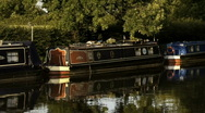 Stock Video Footage of Canal barges in Ellesmere in England