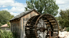 Water wheel and shed P HD 1969 Stock Footage