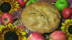 Apple Pie Display Stock Footage