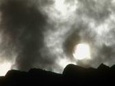 Sun through steam 08 Stock Footage