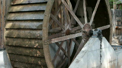 Waterwheel hub turn P HD 1976 Stock Footage