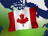 Canadian Flag 157 Stock Footage