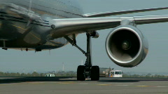 757 Engine Nacelle Stock Footage
