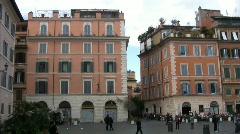 Santa Maria in Trastevere Square - Rome Stock Footage