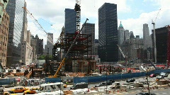 World Trade Center Ground Zero Stock Footage