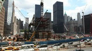 Stock Video Footage of World Trade Center Ground Zero
