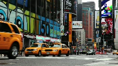 Times Square Traffic 2 - stock footage