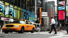Times Square Traffic - stock footage