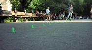Stock Video Footage of Central Park Skaters