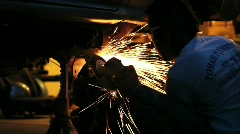 Metal Sanding 3 - stock footage