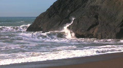 Stock Video Footage of Ocean and rock