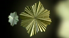 Golden star medalion Stock Footage
