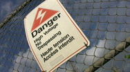 Stock Video Footage of Danger. High Voltage!