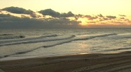 Stock Video Footage of Beach Sunrise 03