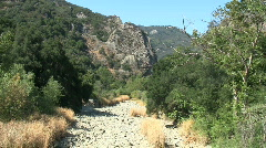 Stock Video Footage of Dry River Bed In Chaparral