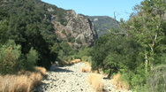 Dry River Bed In Chaparral Stock Footage