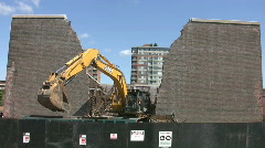 Demolition at construction site.  Stock Footage