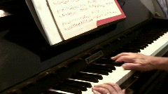 Piano hands close up - with sound series - 4 Stock Footage