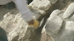 archeological site diging 1 - stock footage