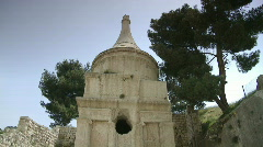 avshalom tomb tilt - stock footage