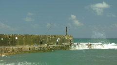Caesarea  fisherman ls Stock Footage