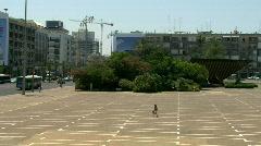 Rabin square pan Stock Footage