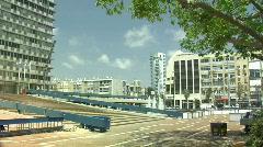 Tel Aviv City Hall pan 2 Stock Footage