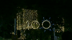 Tel Aviv white night 100 zoom Stock Footage